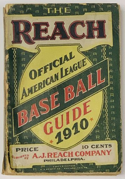 Philadelphia: A.J. Reach Company, 1910. 1st Edition thus, i.e., for this year. Green printed paper w...