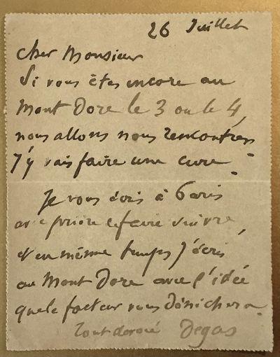 In Failing Health, Edgar Degas Takes...