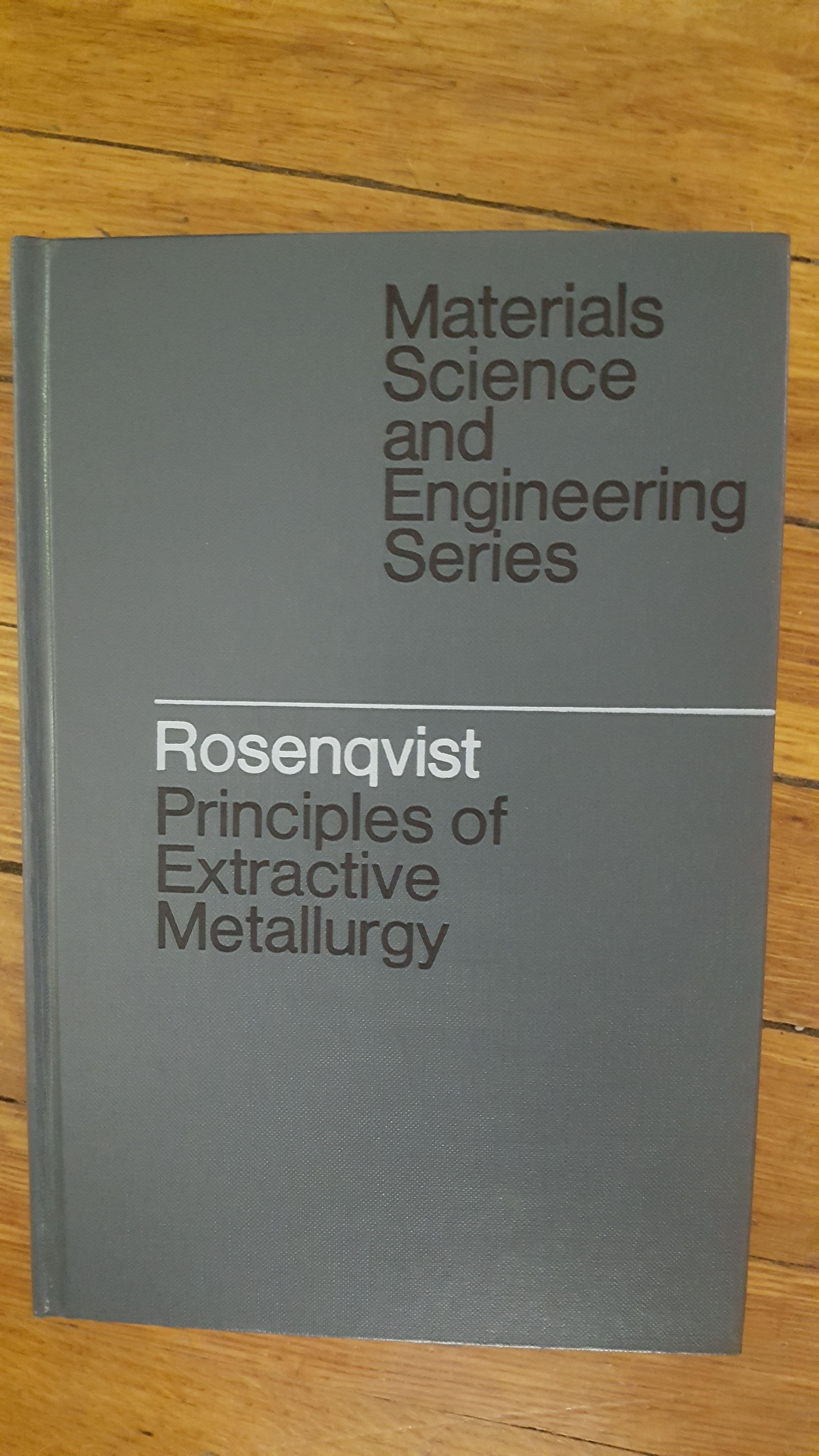 9780070538474 - Principles of extractive metallurgy (McGraw