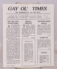 image of Gay Ol' Times: Gay and Lesbian Alliance newsletter; vol. 11, no. 4, August/September 1990