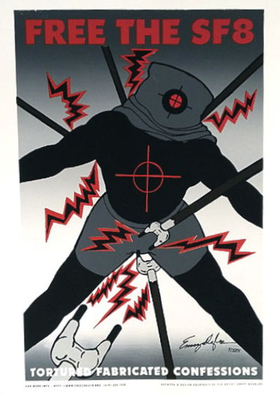: Emory Douglas, Committee for the Defense of Human Rights and Free the SF8 Organization, 2009. 19x2...