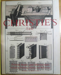 Printed Books and Manuscripts: Including Printing History and Reference; 20 March 2001;  Sale 8549