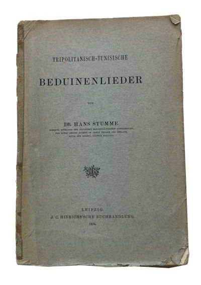 Leipzig: J. C. Hinrichs'sche Buchhandlung, 1894. Paperback. Poor. glossary, ix, , 153p. Original wra...
