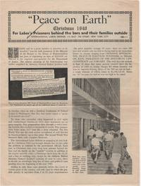 """""""Peace on Earth"""" Christmas 1940; For Labor's Prisoners behind the bars and their..."""