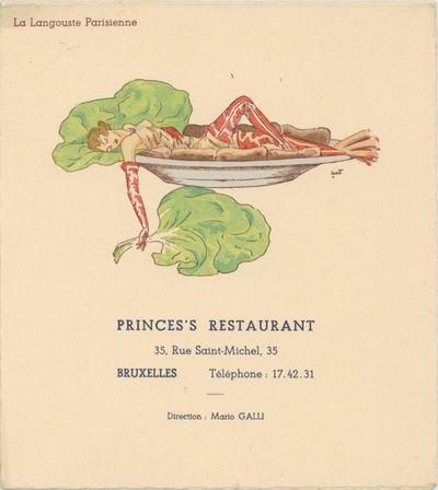 Prince's Restaurant. La Langouste...
