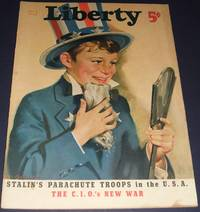 image of Vintage Issue of Liberty Magazine for July 6th 1940 Cover Art by F. Sands  Brunner