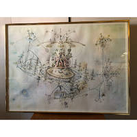 """Chitty Chitty Bang Bang Artist """"OS/S PUSSIEWILLOW II"""" (with printed signature)"""