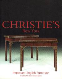 Important English Furniture, New York, 19 October 2000 (Sale 9488)