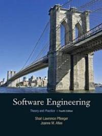 Software Engineering: Theory and Practice (4th Edition) by Shari Lawrence Pfleeger - Hardcover - 2009-05-01 - from Books Express and Biblio.com