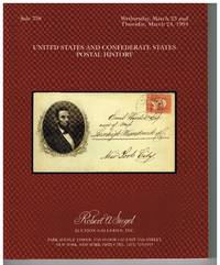 US & CSA postal history by Robert A Siegel Auction Galleries - Paperback - 1st - March 23, 1994 - from Bradford Dewolfe Sheff- Bookseller (SKU: 230-17)