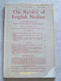 The Review of English Studies: New Series Vol.XX, No.77, February 1969: a Quarterly Journal of...