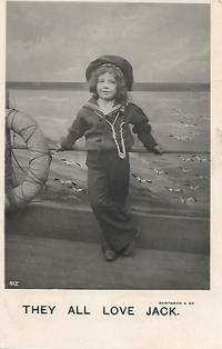 image of Boy in Sailor Suit on 1907 White Border Real Photo Postcard