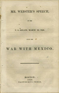 Boston: Eastburn's Press, 1848. First edition. Removed. Removed from larger volume else a very good ...