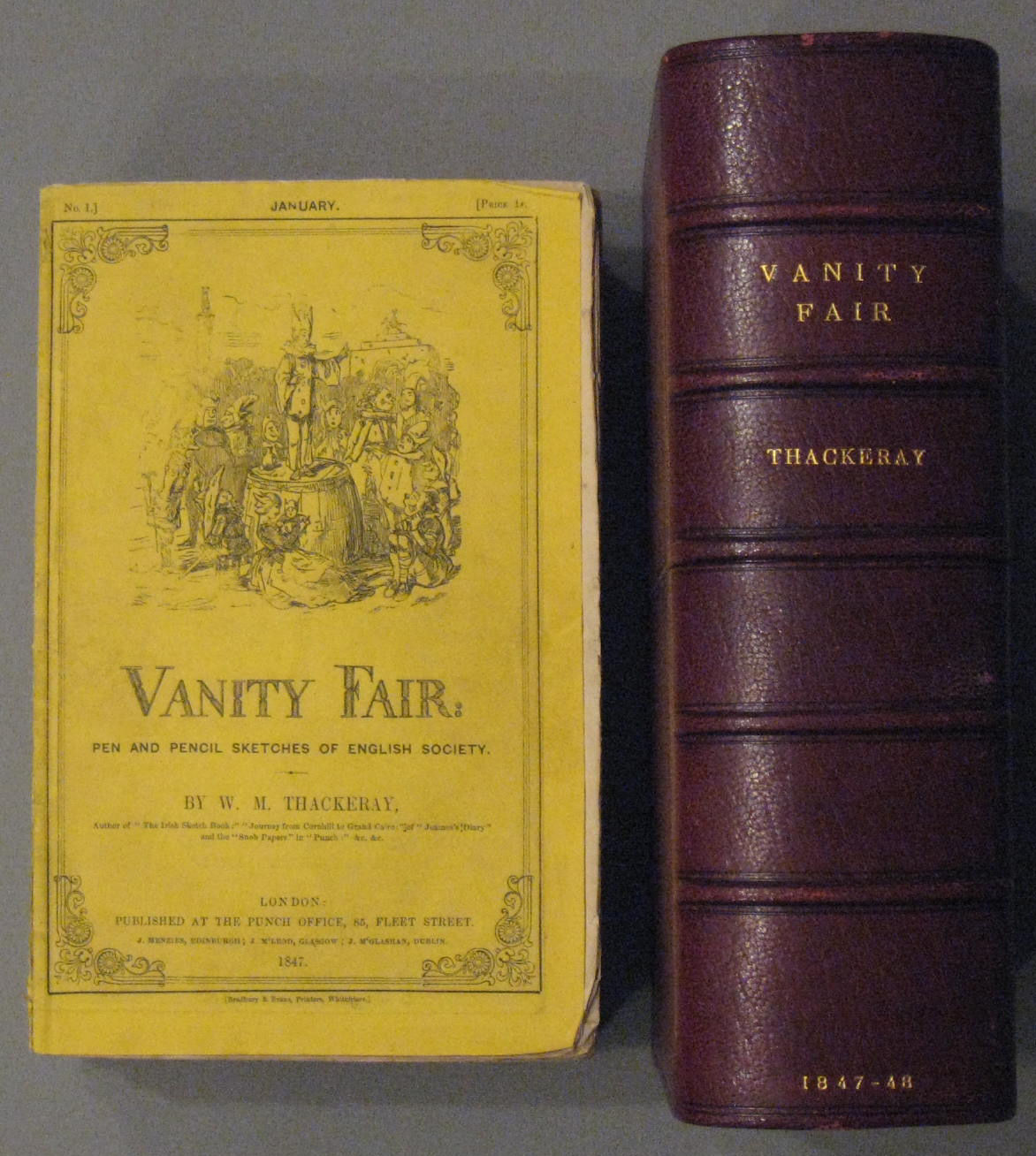 vanity fair a novel without a by w m thackeray paperback 1st edition 1847 from