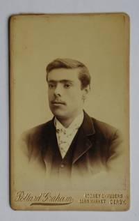 Carte De Visite Photograph. Portrait of a Young Man.