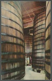 REDWOOD STORAGE TANKS IN CELLARS OF THE ITALIAN SWISS COLONY WINERY