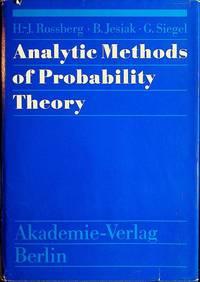 Analytic Methods of Probability Theory
