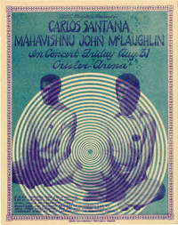 image of Original flyer for a performance on the Love Devotion Surrender tour featuring Mahavishnu John McLaughlin and Carlos Santana