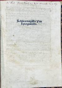 Logica magistri Pauli Pergulensis.