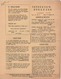 Jefferson Bulletin; Summer Term, Vol. II, No. 6