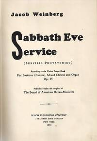 SABBATH EVE SERVICE [BOUND WITH] THE 92ND PSLAM [BOUND WITH] SABBATH  MORNING SERVICE