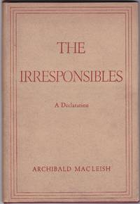 image of The Irresponsibles: a Declaration