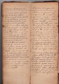 Victorian Manuscript Cookbook with laid in handwritten recipes, pasted down and laid in clippings (1890-1913)