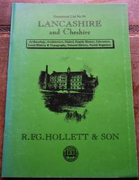 R F G HOLLETT & SON Occasional List 94 Lancashire And Cheshire