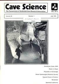 Cave Science. The Transactions of the British Cave Research Association. Volume 20, Number 1, April 1993