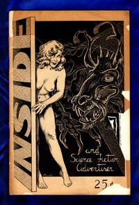 Inside And Science Fiction Advertiser / March, 1957. Cover by Alan Hunter.  Dan Adkins, E.E. Smith, L. Sprague de Camp, John W. Campbell, Jr., Lin Carter. Vintage Science Fiction and Fantasy Fanzine.