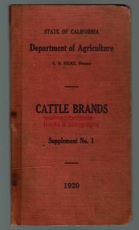 Cattle Brands. Supplement No. 1