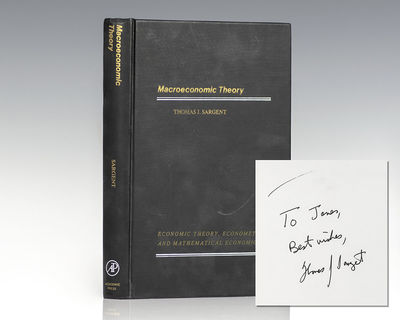 New York: Academic Press, 1979. First edition of the Nobel Prize-winning economist's first book. Oct...