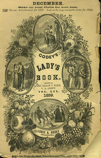 """""""The Departure, Second Class Car"""" and """"The Return, First Class Car"""" appearing in Godey's Lady's Book 1859"""
