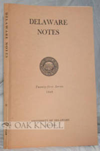 Newark: University of Delaware, 1948. stiff paper wrappers. 8vo. stiff paper wrappers. 101 pages. B1...