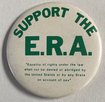 n.p., . Large three-inch diameter pin with text of the proposed amendment; very good.