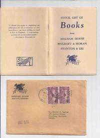 ( MAYS # 21a  / HERRON # 26 / with original mailing envelope ) ARKHAM HOUSE Ephemera:  Stock List of Books from Arkham House Mycroft & Moran Stanton & Lee ( Stock List /  Catalog / Catalogue )