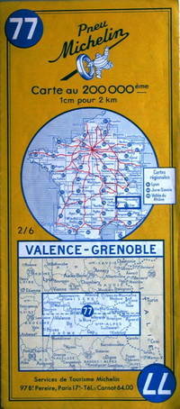 Valence - Grenoble by Michelin - No. 77, 1:200,000 - 1961 - from Acanthophyllum Books and Biblio.com
