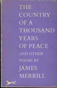 New York: Knopf, 1959. First edition. Cloth. Very Good/Very Good. 8vo. 77pp. Pink cloth with gilt an...