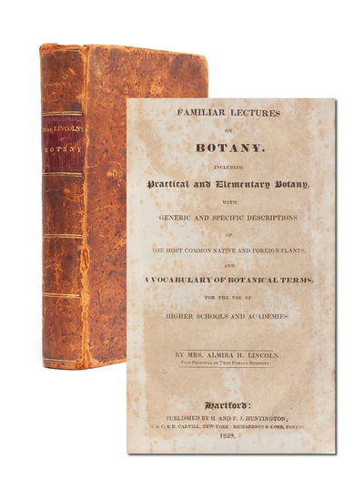 Hartford: H. and F.J. Huntington, 1829. First edition. Contemporary tree calf with morocco label to ...