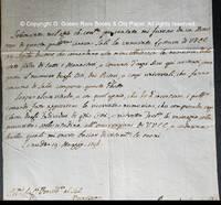 Manuscript Letter 19 May 1796 Lettera Manoscritta 19 maggio 1796 From Ceneda, Jewish Ghetto.