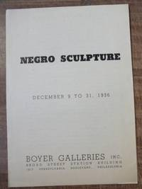 Negro sculpture : December 9 to 31, 1936