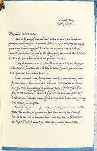 A Letter from Carl Dair about the Paper Mills of Amalfi, Italy