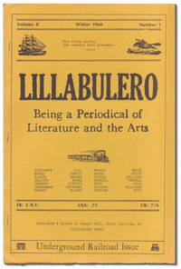 Lillabulero: Being a Periodical of Literature and the Arts. Volume 2, Number 1. Underground Railroad Issue by BANKS, Russell, and William Matthews, Editors. Signed by Russell Banks - Winter 1968.