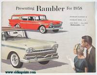 Presenting Rambler for 1958.  Rambler Economy 6, Rambler Rebel V-8, and now...All-New Ambassador V-8