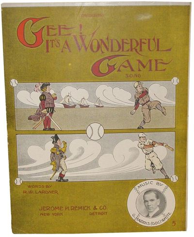 Detroit: Jerome H. Remick & Co., 1911 Sheet music. First printing. Pictorial coated wove paper wrapp...
