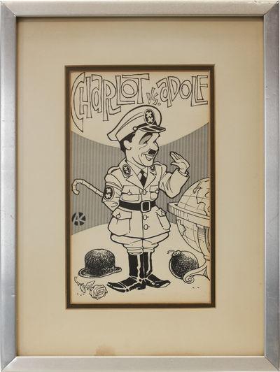N.p.: N.p., 1940. Original one-panel comic showing actor Charlie Chaplin in costume as