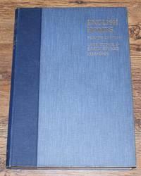English Homes, Period III - Vol, I, Late Tudor and Early Stuart 1558-1649