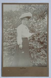 Cabinet Photograph: Portrait of 'Lottie' a Young Woman Amongst Flowers.