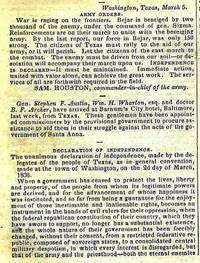 COLLECTION OF 23 ORIGINAL ISSUES OF THE NILES' WEEKLY REGISTER, 1836, DESCRIBING THE DRAMATIC AND HEROIC STRUGGLE FOR TEXAN INDEPENDENCE, with the text of the Texas Declaration of Independence
