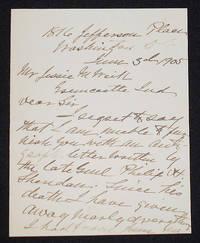 image of Handwritten Letter by Irene Rucker Sheridan, widow of General Philip Sheridan